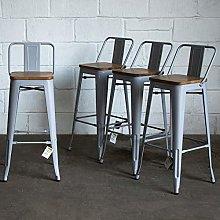 Marko Furniture Tuscany Set of 4 Pale Grey Metal