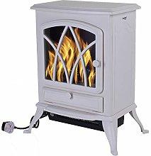 Marko Heating Electric Fireplace Cream 2000W