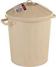 Marko Homewares 15L Metal Bin & Lid Galvanised