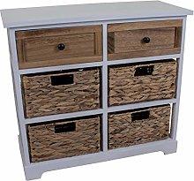 Marko Wicker Drawers Cabinet Chest Unit Bedside
