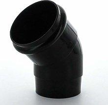 Marley Downpipe Bend 68mm 45Deg RB253 Black White