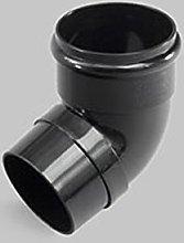 Marley Downpipe Bend 68mm 67.5Deg RNE255 Black