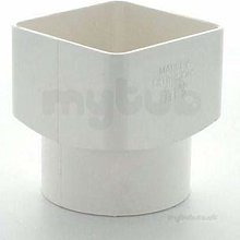Marley RLE2W White 65mm Square to 68mm Round Drain