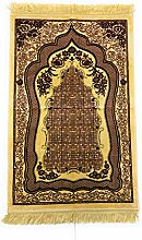 MAROON/GOLD Beautiful Turkish Prayer Mat Janamaz