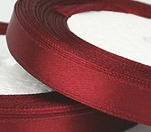 Maroon Red SATIN RIBBON - 25 METRES X 10MM OF FOR