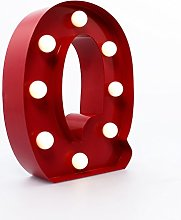 "Marquee Letter Light ""Q"" –Light Up LED"