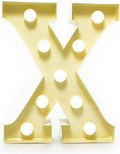 "Marquee Letter Light ""X"" –Light Up LED"
