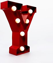 "Marquee Letter Light ""Y"" –Light Up LED"