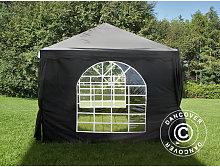 Marquee Party tent Pavilion UNICO 3x3 m, Black