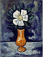 Marsden Hartley White Flower Vase Painting Art