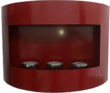 Marseille Bio-Ethanol Fireplace, Red