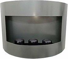 Marseille Bio-Ethanol Fireplace Silver