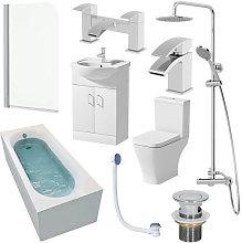 Marseille Single End 1500mm Bathroom Suite- 550mm
