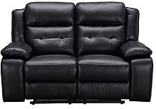 Martelle Real Leather/Faux Leather 2 Seater Manual Recliner Sofa