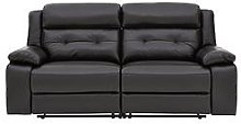Martelle Real Leather/Faux Leather 3 Seater Manual