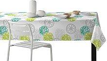 Martina Home Lemon Tablecloth resinado and Modern