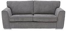 Martine Fabric 3 Seater Sofa - Charcoal