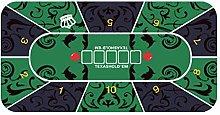 Martola Foldable poker mat, 1.2x0.6m playing cards
