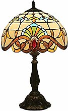 MARUA Baroque Tiffany Table Lamp Stained-glass