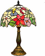 MARUA Tiffany Style Table Lamps Accent Little Bird