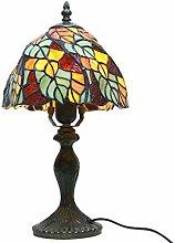 MARUA Tiffany Style Table Lamps, Handmade Glass
