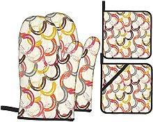 Marutuki Abstract Circle Round Shaped Colorful