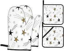 Marutuki Festive Cute Gold Flying Stars