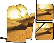 Marutuki Gold Desert In Sunset. Canary Islands,