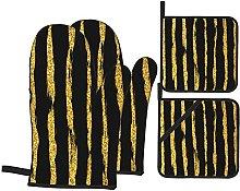 Marutuki Gold Stripes Glitter Strokes Dots On
