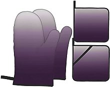 Marutuki Gradient Purple,Oven Mitts and Pot