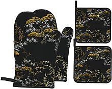 Marutuki Japanese Chinese Gold Tree,Oven Mitts and