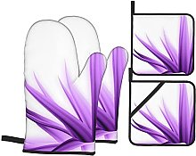 Marutuki Lilac Purple Flower,Oven Mitts and Pot
