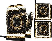 Marutuki Scarf Baroque Gold White Black