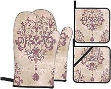 Marutuki Silver Rococo Damask Floral Victorian