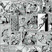 Marvel Comic Strip Wallpaper Black and White