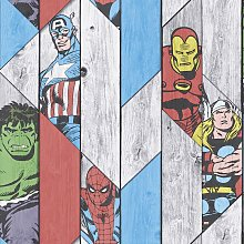 Marvel Wood Panel Wallpaper
