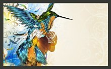 Marvelous Bird 270cm x 450cm Wallpaper East Urban