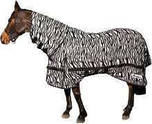 Marwell Zebra Horse Fly Rug (7´) (Black/White) -