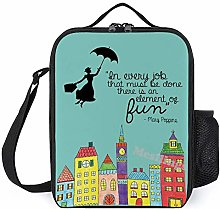 Mary Poppins Fun Quote Casual Lunch Box Insulated