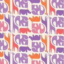 Mary the Fairy - Purple Animal Stripe Cotton