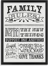 Mary Urban - Family Rules Framed Print, 54 x 39cm,