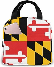 Maryland State Flag Night Garden Lunch Tote Bag