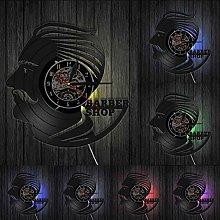 MASERTT Barber Shop Vinyl Record Clock Barber