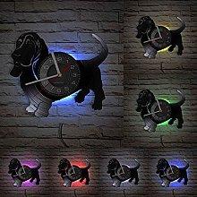 MASERTT Basset Hound Wall Clock For Pet Shop Puppy