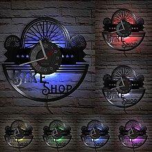 MASERTT Bicycle Tires Vinyl LP Record Wall Clock
