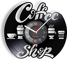 MASERTT Coffe Shop Music Record Clock For Kitchen