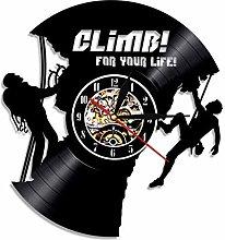 MASERTT For Your Life Wall Clock Climbing Sport