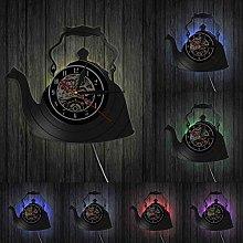 MASERTT Modern Kitchen Artwork Teapot Wall Clock