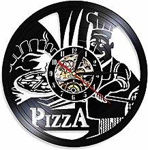 MASERTT Pizza Time Wall Watch Pizzeria Gastronome