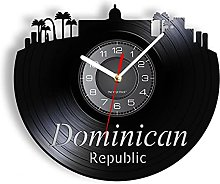 MASERTT Republic Vinyl Record Wall Clock For